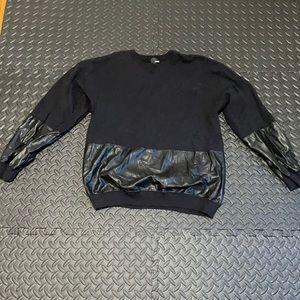 Wilfred free faux leather sweatshirt